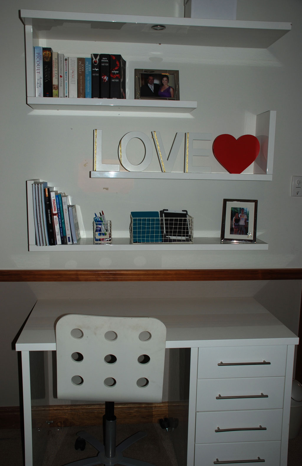 Living Room Study: Living Room Renovation, Study Desk And Shelving